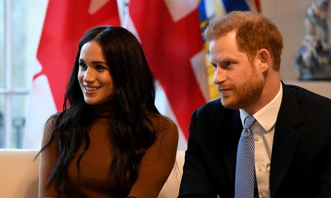 Harry và Meghan tại một sự kiện ở London, Anh, ngày 7/1. Ảnh: Reuters.