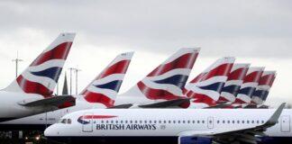 Các máy bay của hãng hàng không Anh British Airways tại sân bay Heathrow, London hồi tháng 3. Ảnh: Reuters.